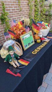 German Erntedankfest decorative table